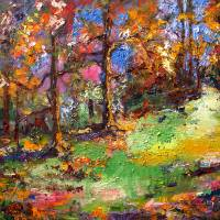"""Forest - Oil Painting by Ginette callaway"" by GinetteCallaway"