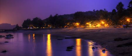 Xiamen: Night Beach.