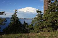 Crater Lake with Perfect Pine Tree by Carol Groenen