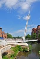 Swing Bridge at Cathedral Green, Derby (18118-RDA)
