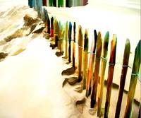 Abstract March of the Colored Picket Fence