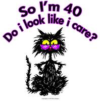 40th Birthday Cat