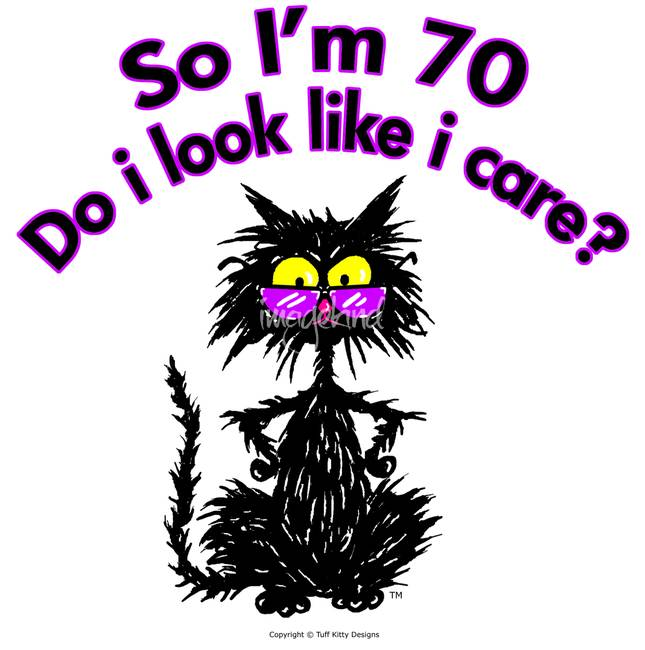 70th birthday cat by tuff kitty