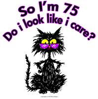 75th Birthday Cat