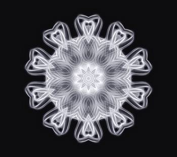 Twisted 1 White Kaleidoscope Art 1