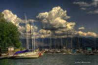 Billowing Clouds at Sandpoint