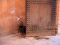 Bucket and Door, Marrakech, Morocco