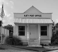 Old Katy Post Post Office (Black and White)