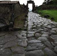 Pompeii - Main road leading to  temples and bathes