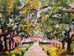 Avenue of Oaks South Carolina Oil Painting by Gine Posters