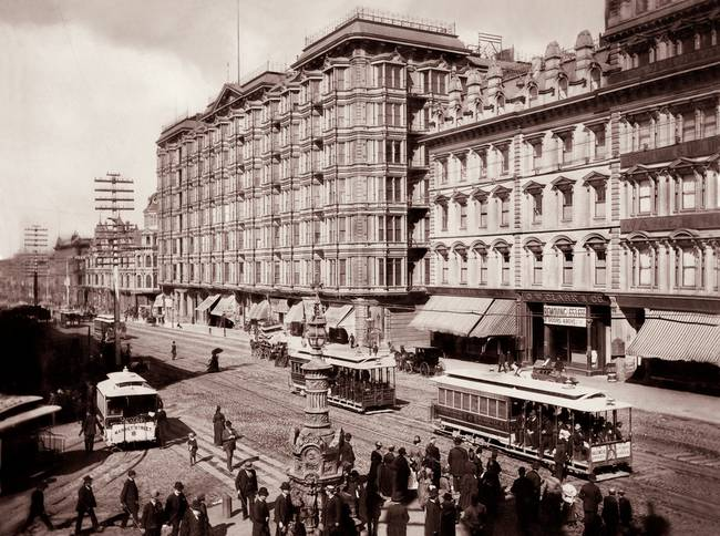 Palace Hotel, San Francisco by Taber, c1890