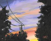 Sunset Power Lines 2