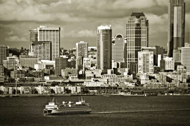 Seattle Skyline and Ferry
