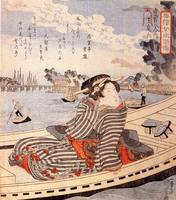 Woman in a Boat on the Sumida River