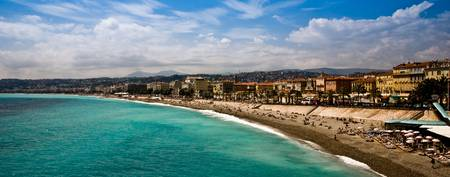 The coastline of Nice