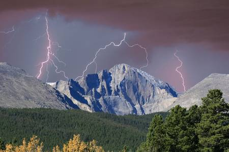 Longs Peak and Lightning