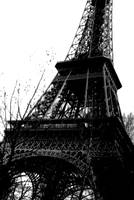 Greyscale Eiffel Tower