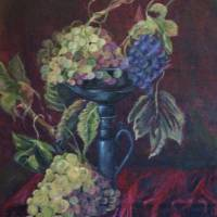 Grapes dish Art Prints & Posters by Rachel Ash