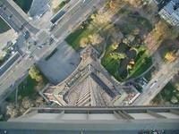 Straight Down the Eiffel Tower