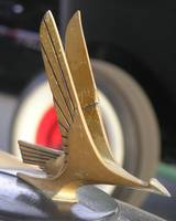 Brass Bird in Flight Mascot