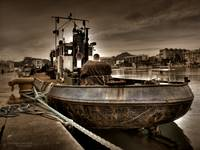 Old rusty tugboat