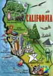 California Cartoon Map Posters