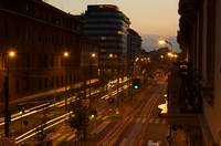 Milan Traffic at Night
