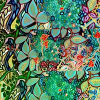 garden collage by Louise Dionne
