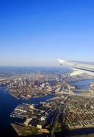 Boston Skyline from the Airplane