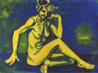 Figure in Yellow and Blue
