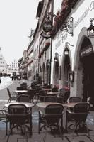 Rothenburg Cafe- Digital by Carol Groenen