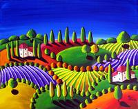 Colorful Tuscan Landscape