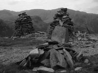 Slate Cairns on Old Man of Coniston
