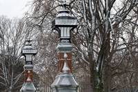 Snow-freckled Lampposts