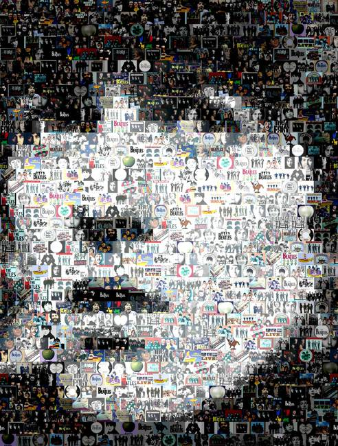 george harrison amazing montage mosaic illusion by paul van scott