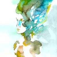 Bust of an Unknown Woman Art Prints & Posters by Johnny Perez