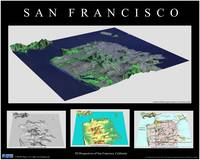 3D Perspectives of San Francisco-Black