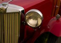 Red MG Headlight