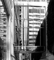 Between Buildings...Reflections - Black and White