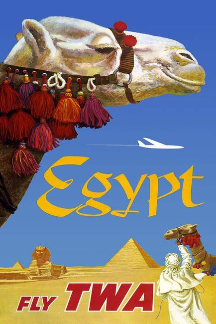 Egypt Vintage Travel Poster