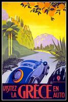 Greece Vintage Travel Poster
