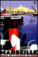 Marseille Vintage Travel Poster