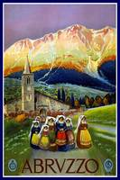 Vintage Travel Poster Abrvzzo Italy