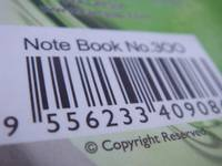 Note Book No.300 : barcode