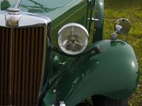 Racing Green MG half Grill and fender