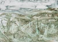 Encaustic Green Marsh