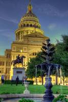 Texas Capitol with fountain - HDR