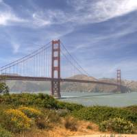 The Golden Gate Bridge and San Francisco Bay by Eileen Ringwald
