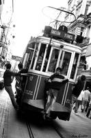 Historic tram on Istiklal Avenue