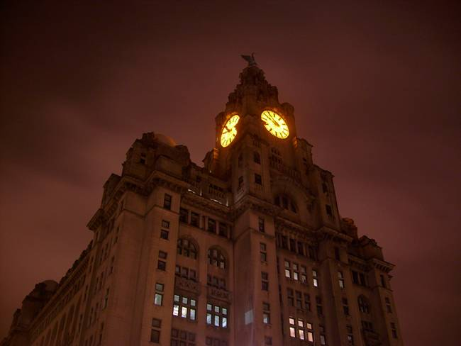 Liverpool Liver Building At Night 02